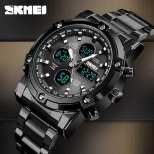 Harga jam tangan pria skmei weapon hitam 1389 rantai original tahan air 3     HARGALOKA.COM