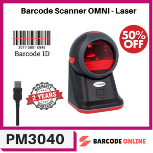 Harga omni directional 1d all id pm 3040 laser barcode scanner duduk | HARGALOKA.COM