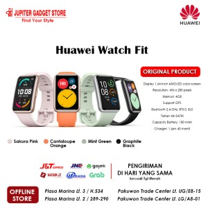 Harga smartwatch huawei watch fit jam tangan garansi resmi huawei indonesia   | HARGALOKA.COM