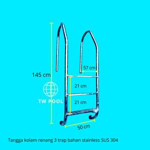 Harga tangga kolam renang 3 trap free   HARGALOKA.COM