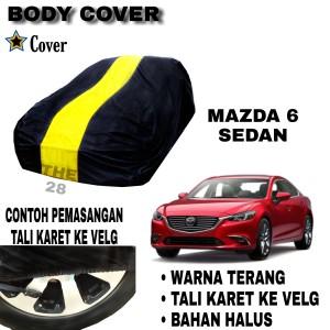 Harga sarung mobil mazda 6 sedan list single kuning body cover mazda 6 | HARGALOKA.COM