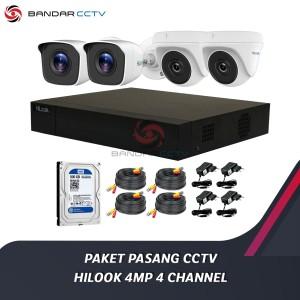 Harga paket pasang kamera cctv hilook 4mp 4 | HARGALOKA.COM