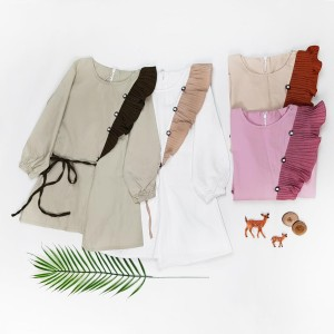 Harga baju dress tunik anak perempuan import murah tunik dress anak cewek   merah muda 9 10 | HARGALOKA.COM