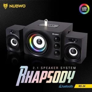 Harga speaker bluetooth rhapsody 2 1 speaker system   nubwo | HARGALOKA.COM