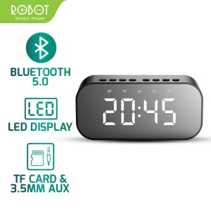 Harga robot speaker bluetooth 5 0 with led display amp alarm clock | HARGALOKA.COM