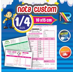 Harga cetak nota kwitansi costum 1 4 folio murah bisa satuan desain gratis   2 | HARGALOKA.COM