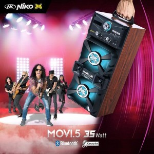 Harga speaker bluetooth plus speaker aktif niko movi 5 super bass   HARGALOKA.COM