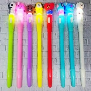 Harga pulpen bts lampu gliter pen alat tulis bts korea   | HARGALOKA.COM