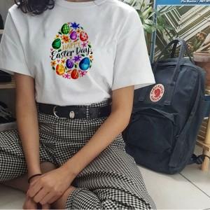 Harga baju kaos paskah easter day wanita casual couple keluarga bigsize   putih | HARGALOKA.COM