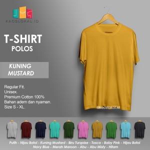 Harga kaos polos baju pria kaos pria premium lengan pendek kuning mustard   | HARGALOKA.COM