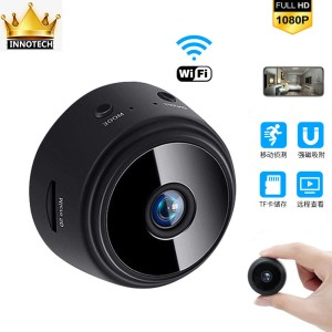 Harga ip camera a9 megnetic mini spy wifi hd 1080p cctv wireless kamera   hitam camera | HARGALOKA.COM