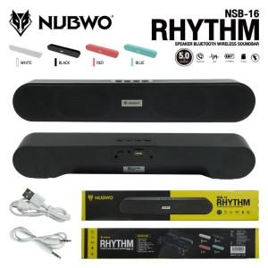 Harga speaker bluetooth portable nubwo nsb 16 bluetooth speaker soundbar 5 0   | HARGALOKA.COM