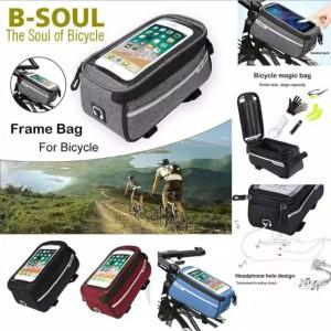 Harga tas frame sepeda depan bmx mtb seli lipat anti air penyimpanan hp smar   | HARGALOKA.COM
