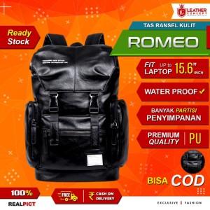 Harga tas ransel kulit pria backpack kulit pria tas sekolah tas pria romeo | HARGALOKA.COM
