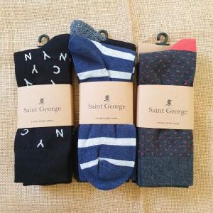 Harga kaos kaki panjang pria saint george cotton casual paket 3 pasang murah   | HARGALOKA.COM
