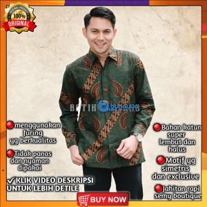 Harga baju kemeja batik pria lengan panjang pendek modern pesta kantoran g26   | HARGALOKA.COM