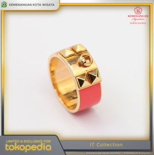 Harga cincin emas it collections model cat pink rosegold size14 | HARGALOKA.COM