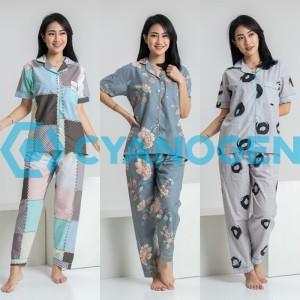 Harga celana panjang baju tidur wanita setelan piyama wanita dewasa katun   contoh | HARGALOKA.COM