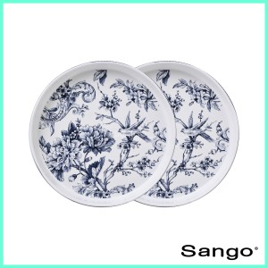 Harga sango piring makan stackable adelaide blue set of   HARGALOKA.COM