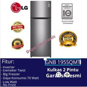 Harga kulkas 2 dua pintu inverter lg gnb 195sqmt lemari es 2 | HARGALOKA.COM