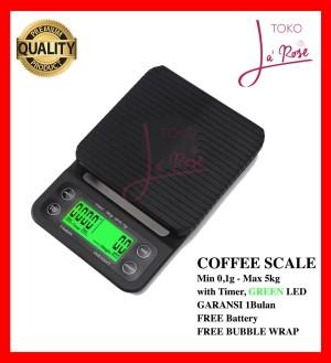 Harga timbangan kopi digital 5kg 0 1gr timer drip coffee scale v60 | HARGALOKA.COM