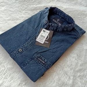 Harga kemeja jeans pria kemeja denim kasual lengan pendek   foto ke 2 | HARGALOKA.COM