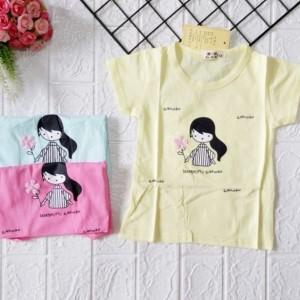Harga 3 bulan 5tahun kaos balita anak perempuan atasan import bayi terbaru   warna chat aja   HARGALOKA.COM