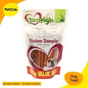 Harga jerhigh chicken sampler snack anjing 200 gram dog | HARGALOKA.COM