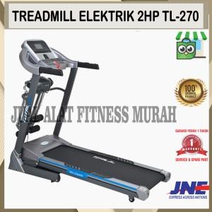 Harga alat fitness treadmill elektrik 3 fungsi tl 270 motor 2hp | HARGALOKA.COM