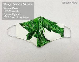Harga masker fashion   handmade limited cantik premium   floral pantai   | HARGALOKA.COM