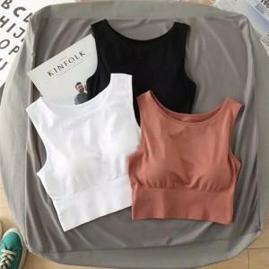 Harga jb sport bra wanita crop top tank top fashion korea sport casual   | HARGALOKA.COM