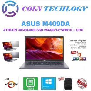 Harga laptop asus m409da amd athlon 3050u 4gb 256gb w10 ohs 2019   30504ts | HARGALOKA.COM