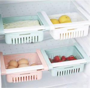 Harga laci kulkas kotak penyimpanan makanan dalam kulkas   organizer sliding   cokelat | HARGALOKA.COM