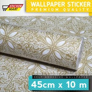 Harga wallpaper stiker lux mewah batik untuk dinding meja furniture   | HARGALOKA.COM