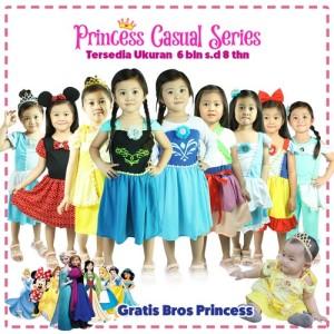 Harga dress casual princess karakter bayi anak frozen mulan jasmine dll   sampul | HARGALOKA.COM