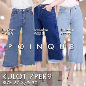 Harga kulot rawis jeans denim wanita kulot jeans celana kulot kulot wa   biru muda | HARGALOKA.COM