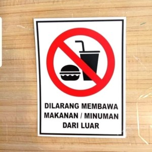 Harga sign akrilik dilarang membawa makanan amp minuman uk | HARGALOKA.COM