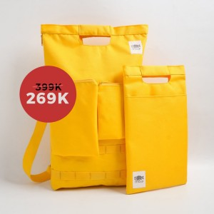 Harga bundle tas ransel tas selempang tas ipad mojji shiro | HARGALOKA.COM