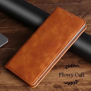 Harga samsung a21s a31 a51 a71 leather cas flip cover sarung hp kulit   coklat   HARGALOKA.COM