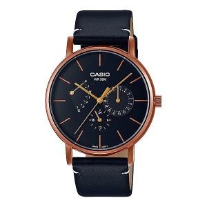 Harga jam tangan pria casio analog black dial black leather   HARGALOKA.COM