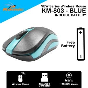 Harga mouse wireless komic km 803   1200dpi nano usb free battery   | HARGALOKA.COM