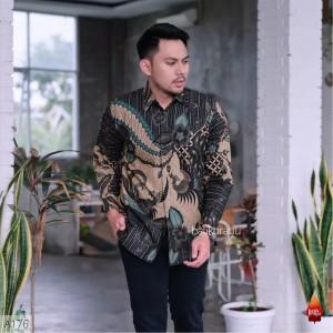 Harga baju batik pria solo lengan panjang pesta kantoran seragaman bg29   | HARGALOKA.COM