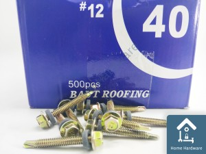 Harga baut roofing baja ringan sekrup 12 x 40 mm isi 500 | HARGALOKA.COM