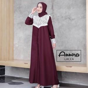 Harga baju gamis maxy wanita muslim elena dress toyobo royal lace terbaru | HARGALOKA.COM