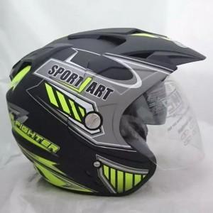 Harga helm motor sni double visor sport black | HARGALOKA.COM