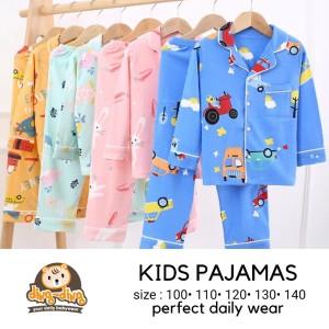 Harga setelan piyama anak bayi cotton premium import   pink 1 | HARGALOKA.COM