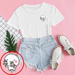 Harga baju kaos distro pentol sate blus wanita pentol sate tshirt pentol   xs | HARGALOKA.COM