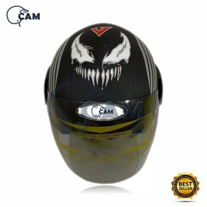 Harga helm motor sni evolution venom marvel black doff bukan | HARGALOKA.COM
