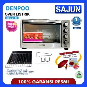 Harga oven listrik denpoo deo 2t38 electric oven deo 2t38   38 liter   bonus | HARGALOKA.COM