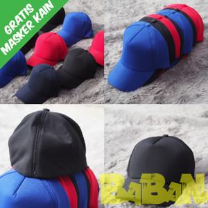 Harga topi baseball polos elastis billup tanpa tali dibagian belakang   | HARGALOKA.COM